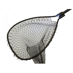 "Night Striker Black Boat Net  Bow Size: 21½"" x 26"" Handle Length: 36"" Net Depth: 36"""