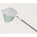 "Deep Style Green Ace Mesh Nylon Frame Size: 16"" x 9"" Handle Length: 42"" Net Depth: 7"""