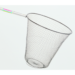"Collapsible Metal Smelt & Shad Handle Type: Aluminum Handle Length: 48"" solid Frame Diameter 18"" Net Depth: 18"""
