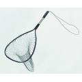 "Black Deluxe Style Trout Bow Size: 14"" x 18"" Handle Length: 12"" Total Length: 30¾"" Net Depth: 24"""