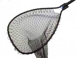 "Night Striker Black Boat Net Bow Size: 18"" x 22"" Handle Length: 30"" Net Depth: Stretch"